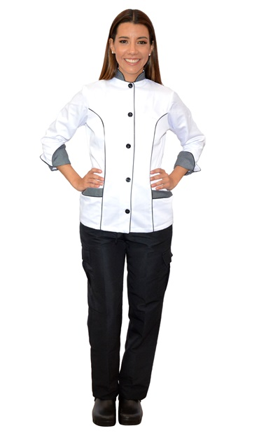 Blusa chef dama - uniformes para chef