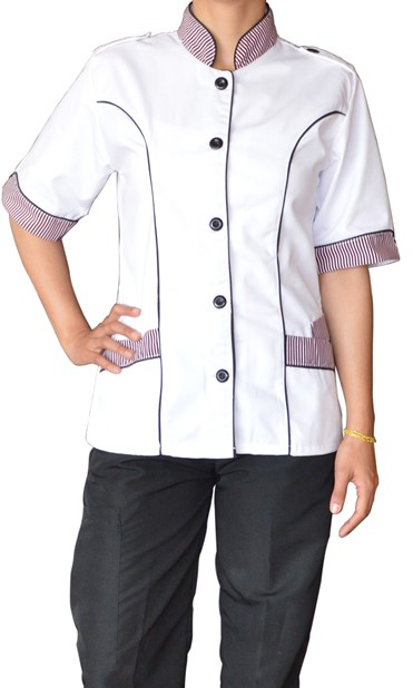 Camisa Chef Dama-uniformes de chef