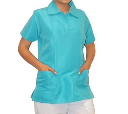 Uniforme para enfermera - camiseta polo un color